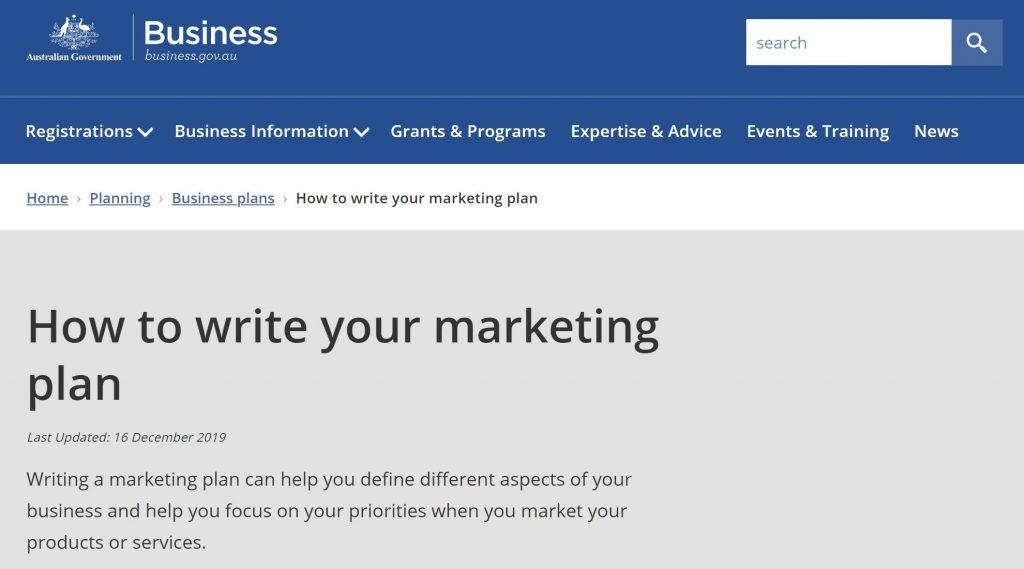 my gov marketing meditation business