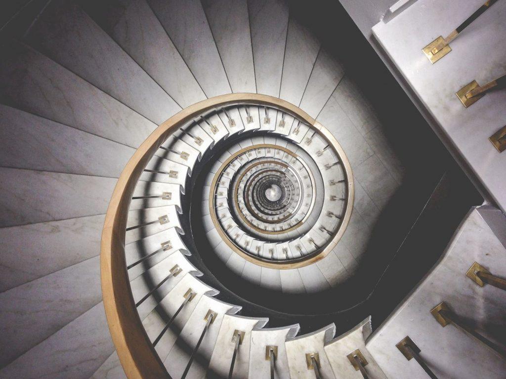spiral inwards